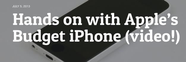 IPhoneBlog de Techdy Budget iPhone