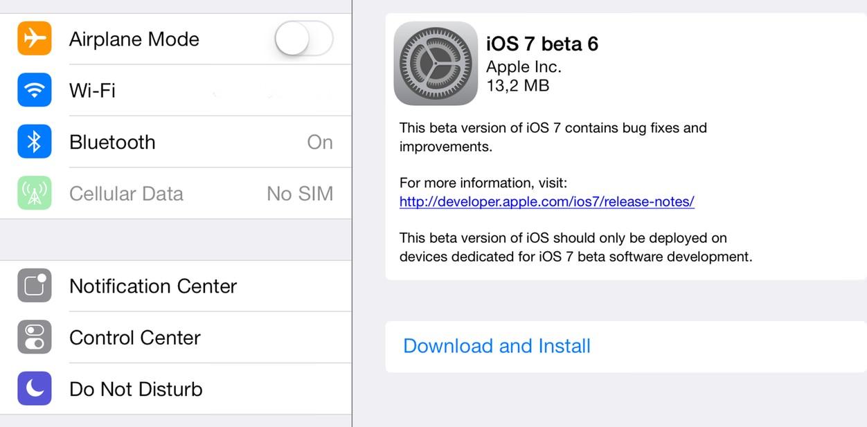 IPhoneBlog de iOS7 beta6