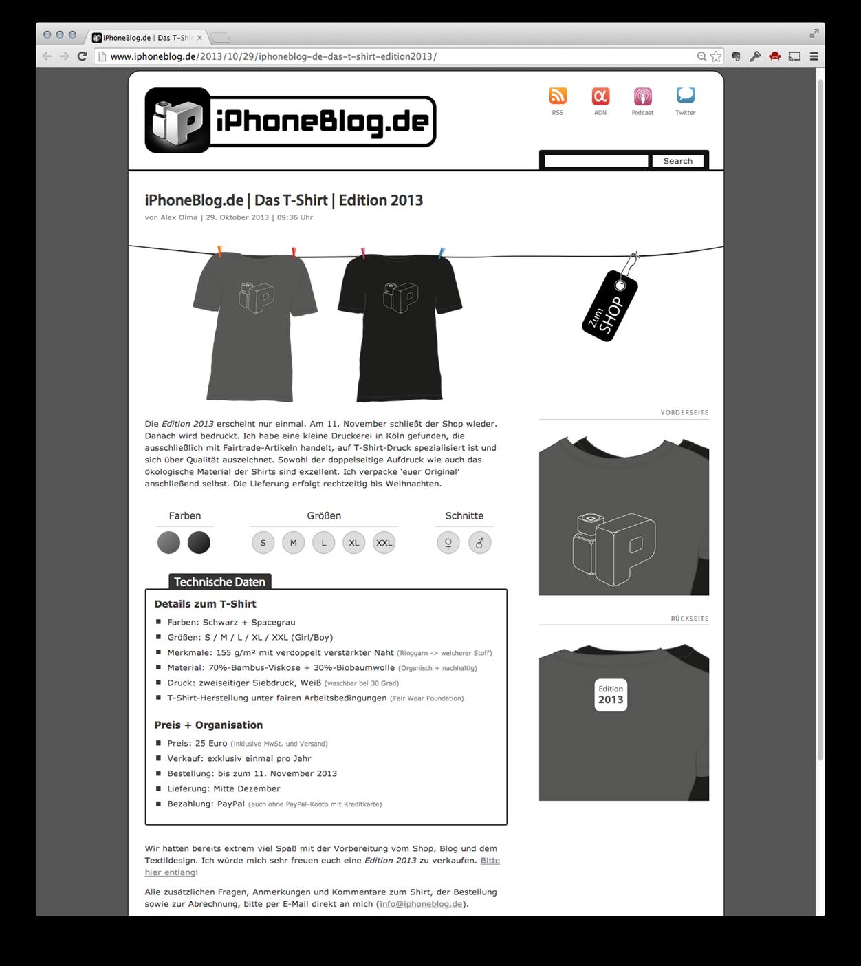 IPhoneBlog de T Shirts 2013