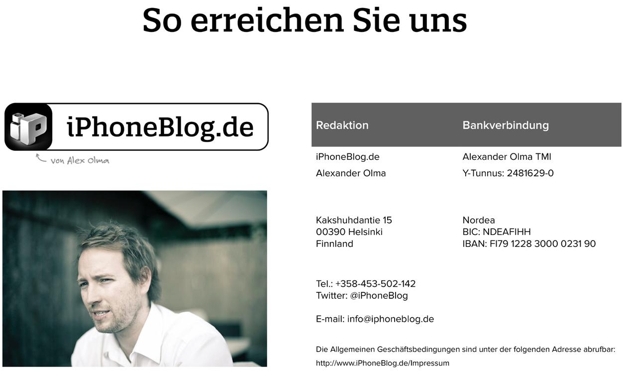 IPhoneBlog de Kontakt DE