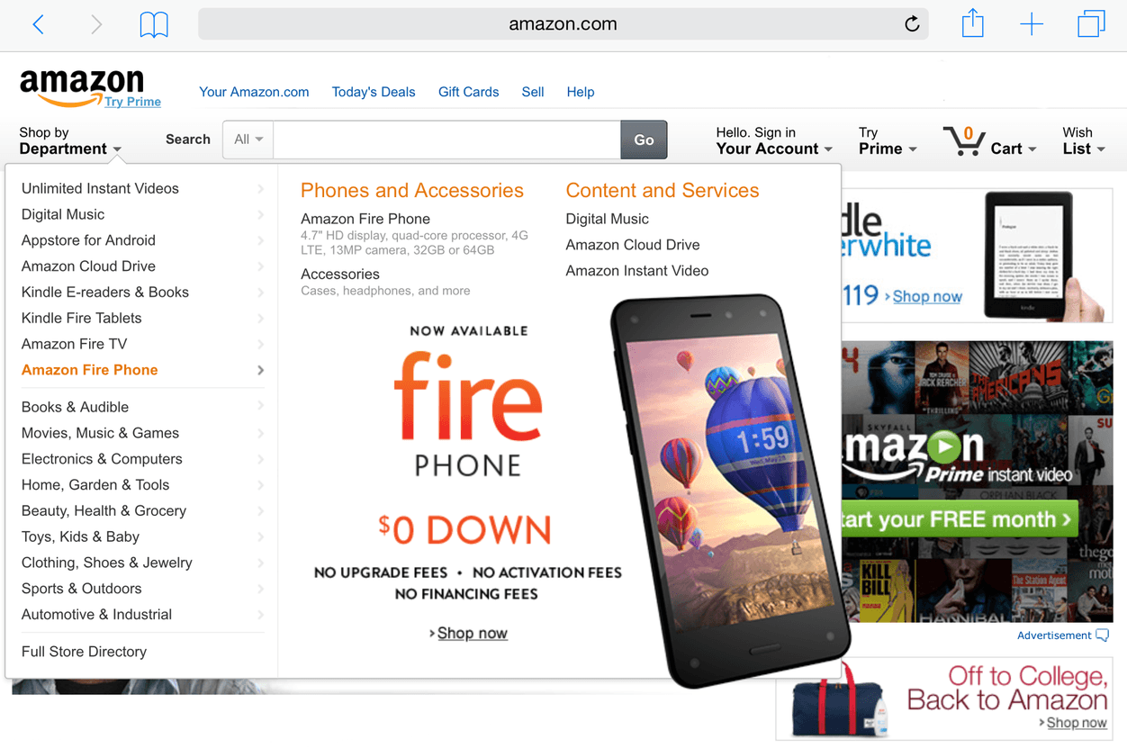 IPhoneBlog de Amazon not on Fire