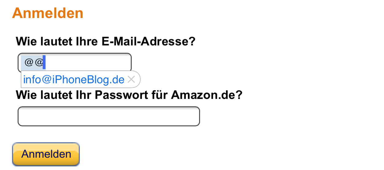 IPhoneBlog de Amazon Login