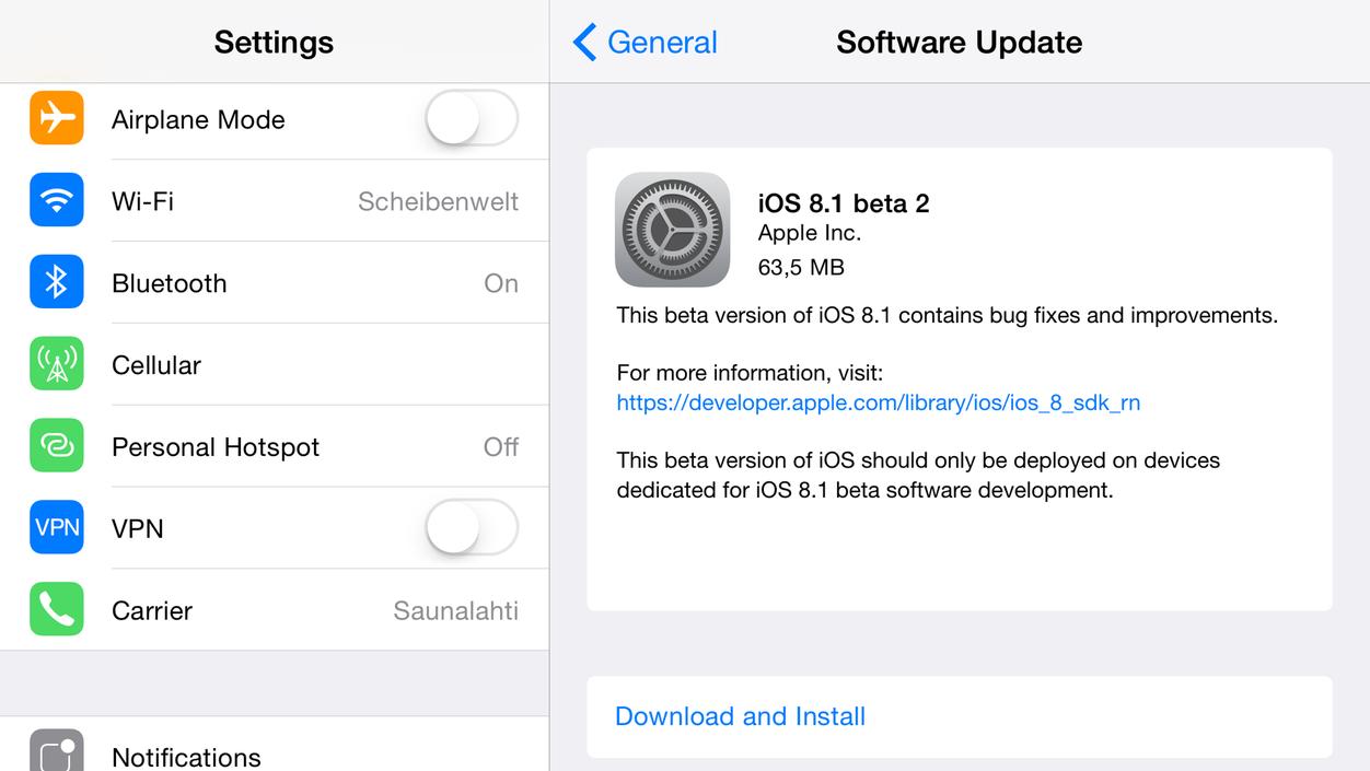IPhoneBlog de iOS8 1 beta2