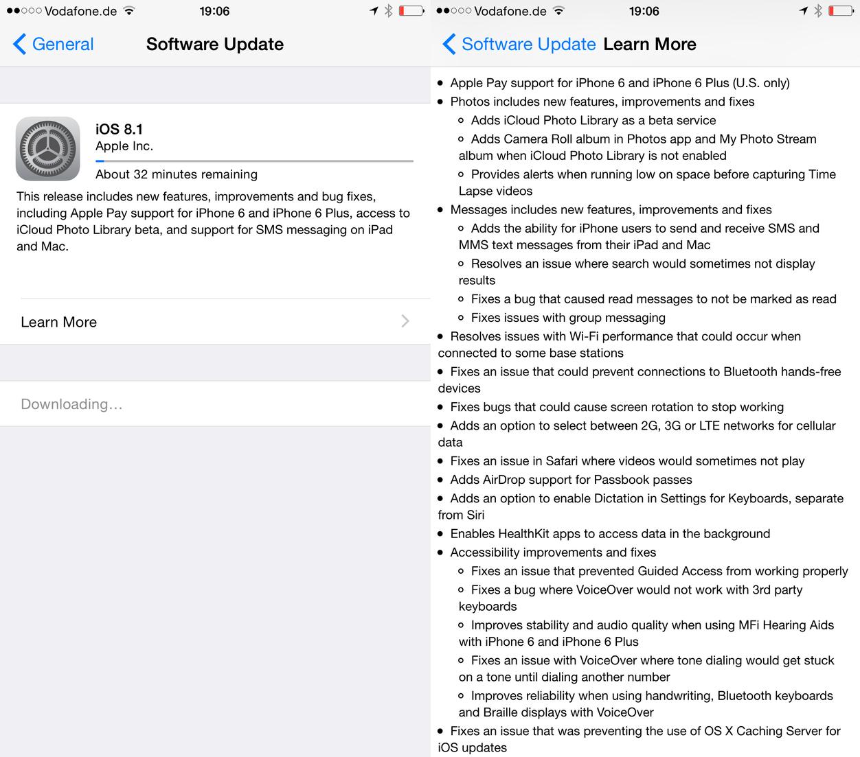 IPhoneBlog de iOS 8 1