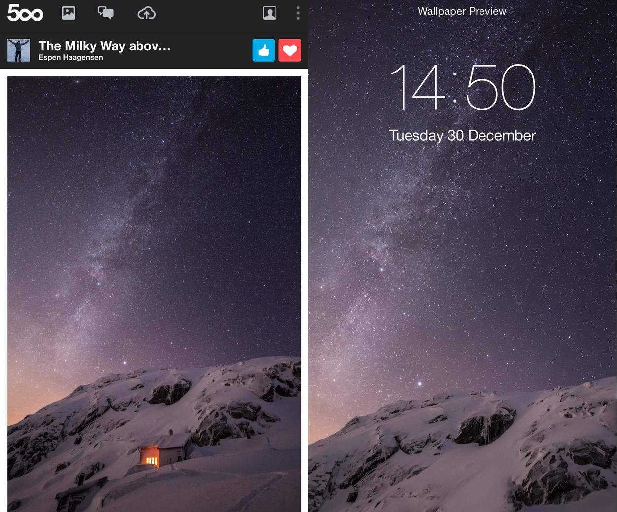 IPhoneBlog de 500px Milky Way