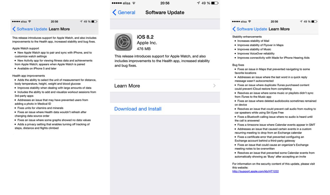 IPhoneBlog de iOS 8 2