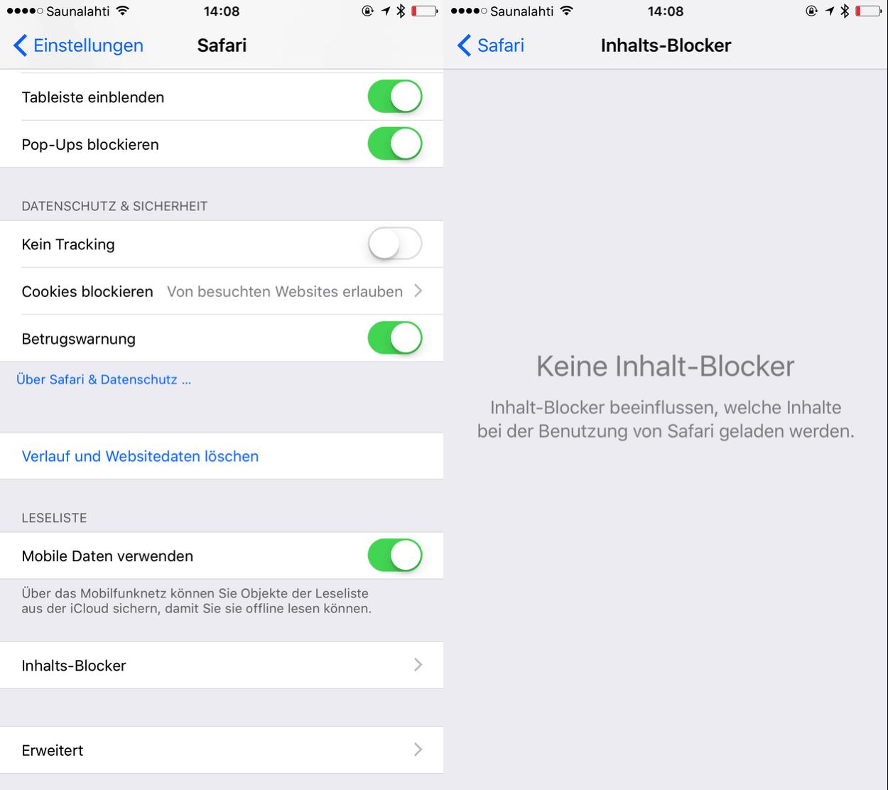 IPhoneBlog de Inhalts Blocker