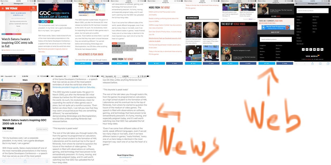 IPhoneBlog de News vs Web
