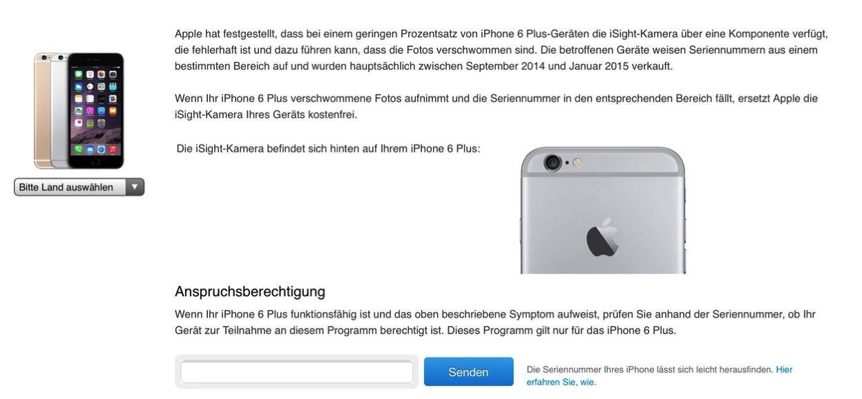 IPhoneBlog de Austauschprogramm iPhone 6 Plus Kamera