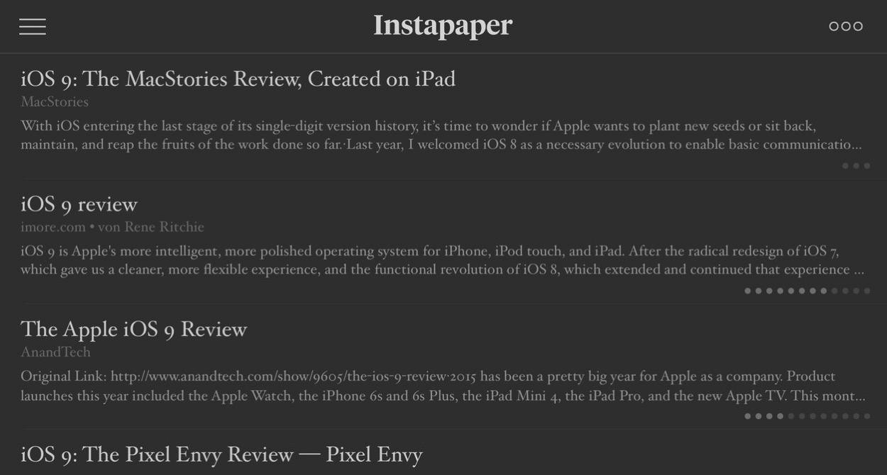 IPhoneBlog de Instapaper iOS9