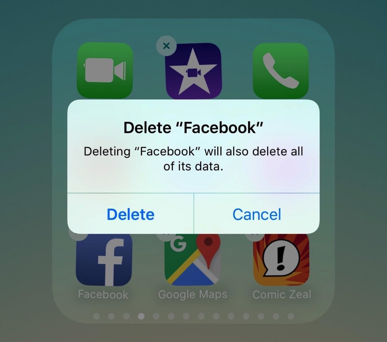 IPhoneBlog de Facebook Delete