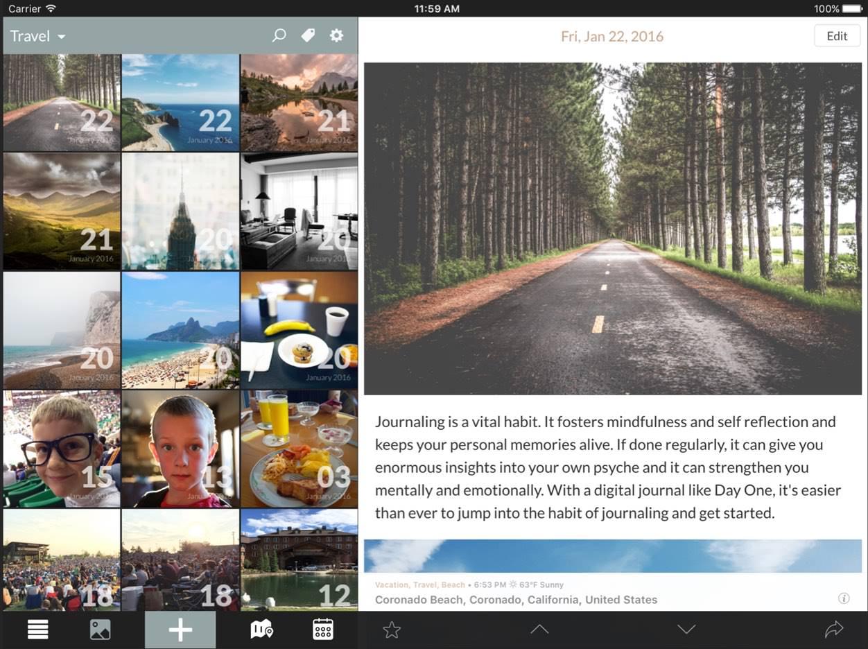 IPhoneBlog de DayOne 2 iPad