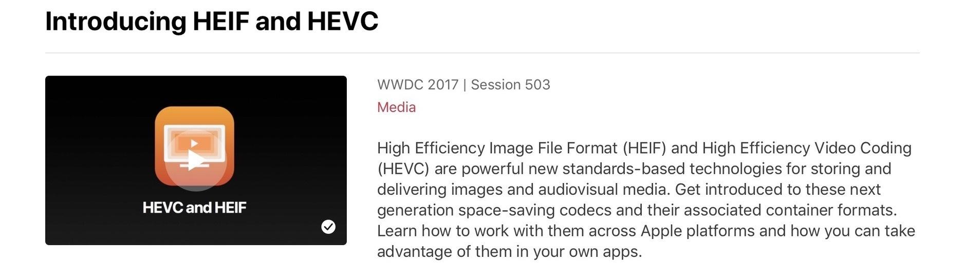 HEVC und HEIF rein, H.264 und JPEG raus. – iPhoneBlog.de