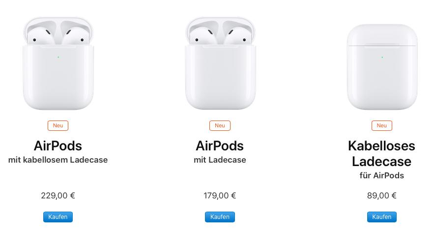 Unterschied Zwischen Airpods 1 Und 2